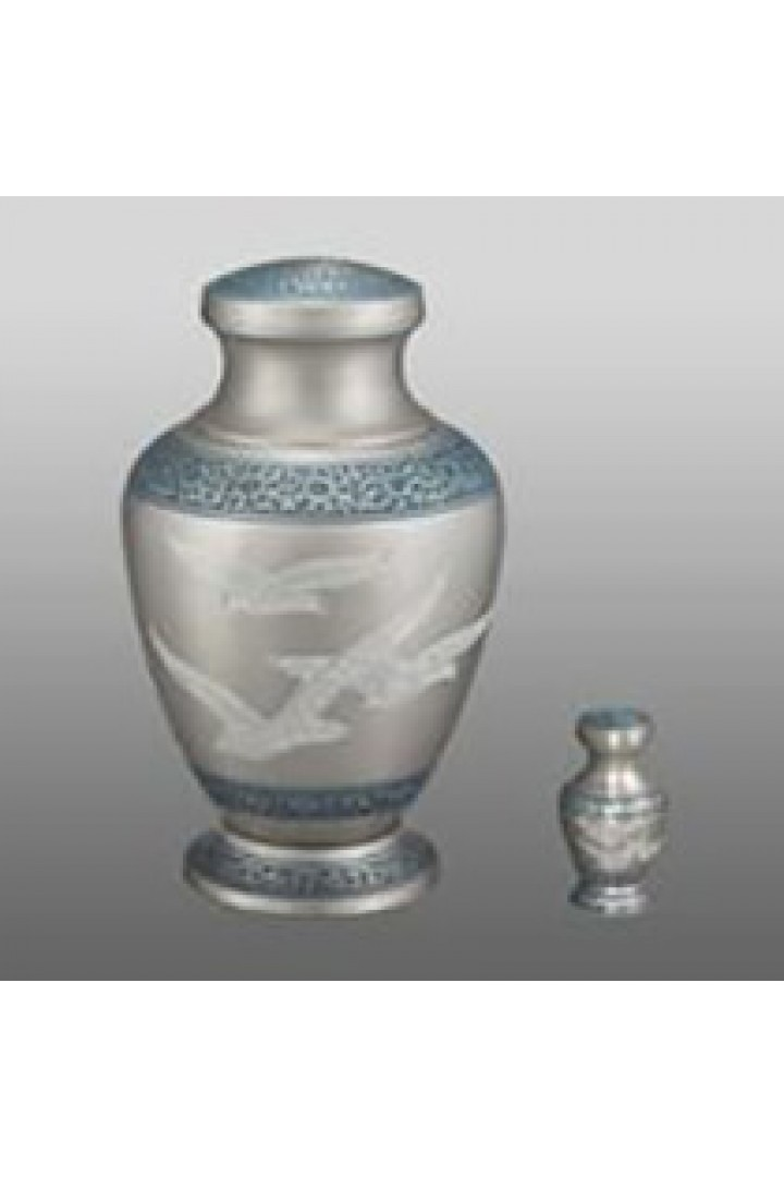 Silver Doves + $49 for Token Keepsake Urn